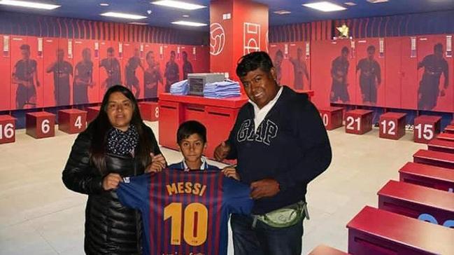 Con apenas 10 años: El Barcelona de Messi reclutó a niño iquiqueño